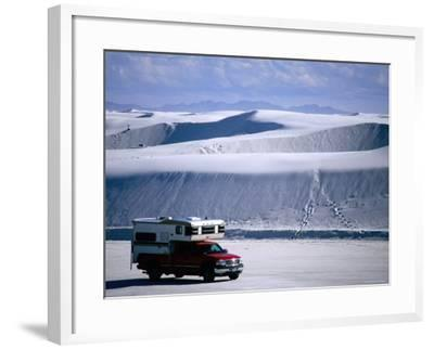 Campervan Near Dunes, White Sands National Monument, New Mexico-Mark Newman-Framed Photographic Print