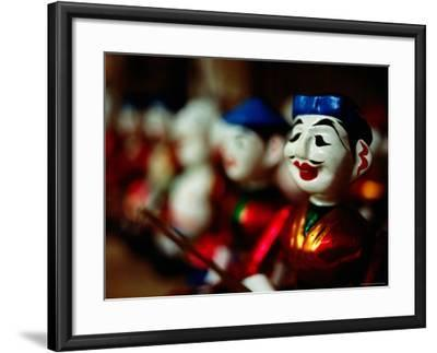 Traditional Water Puppets, Hanoi, Vietnam-Anthony Plummer-Framed Photographic Print