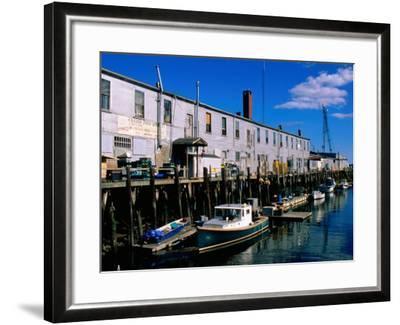 Old Port Exchange Area, Fishing Docks, Portland, Maine-John Elk III-Framed Photographic Print