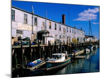 Old Port Exchange Area, Fishing Docks, Portland, Maine-John Elk III-Mounted Photographic Print