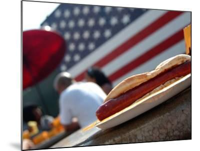 Hot Dogs at Nathan's, Coney Island, New York City, New York-Dan Herrick-Mounted Photographic Print