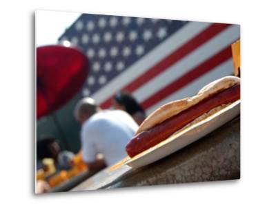 Hot Dogs at Nathan's, Coney Island, New York City, New York-Dan Herrick-Metal Print