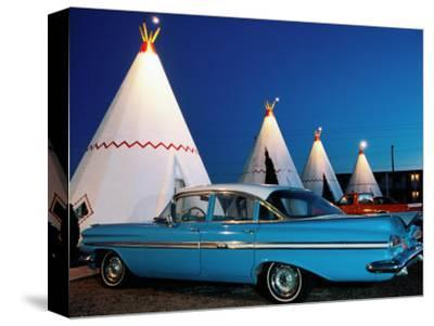 Wigwams and Old Car, Wigwam Motel, Route 66, Holbrook, Arizona-Witold Skrypczak-Stretched Canvas Print