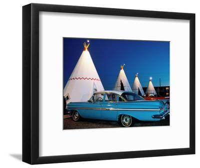 Wigwams and Old Car, Wigwam Motel, Route 66, Holbrook, Arizona-Witold Skrypczak-Framed Photographic Print