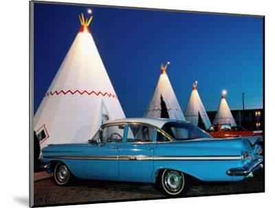Wigwams and Old Car, Wigwam Motel, Route 66, Holbrook, Arizona-Witold Skrypczak-Mounted Photographic Print