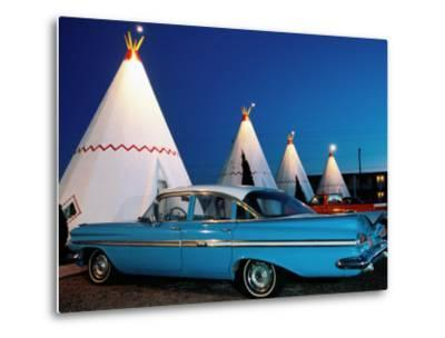Wigwams and Old Car, Wigwam Motel, Route 66, Holbrook, Arizona-Witold Skrypczak-Metal Print