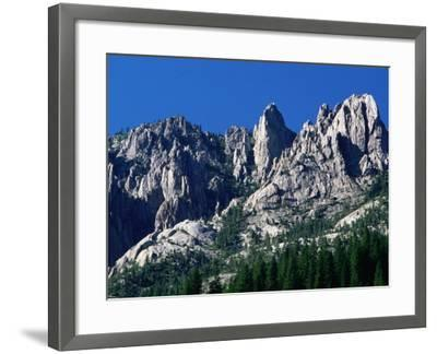 Castle Crags from South, California-John Elk III-Framed Photographic Print