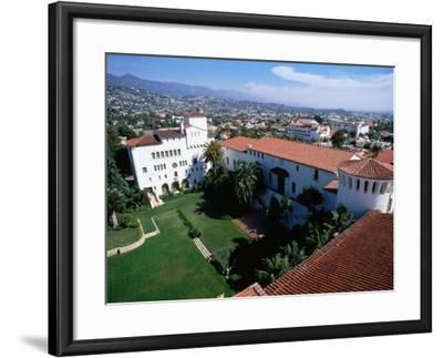 Santa Barbara County Courthouse Seen from Tower, Santa Barbara, California-John Elk III-Framed Photographic Print
