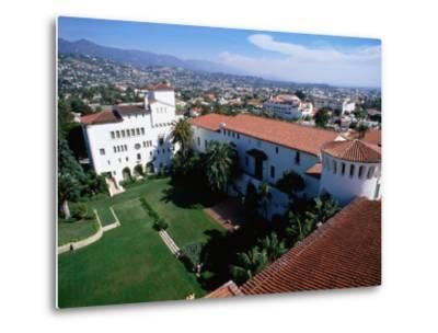 Santa Barbara County Courthouse Seen from Tower, Santa Barbara, California-John Elk III-Metal Print