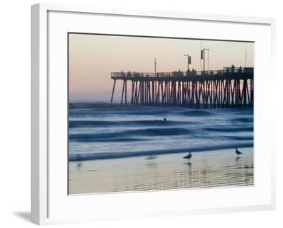 Pier at Sunset, Pismo Beach, California-Brent Winebrenner-Framed Photographic Print