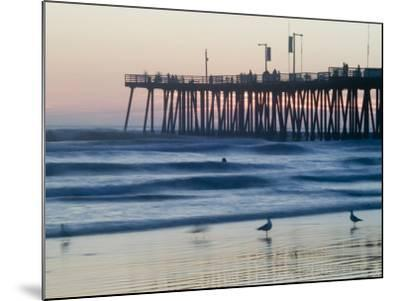 Pier at Sunset, Pismo Beach, California-Brent Winebrenner-Mounted Photographic Print