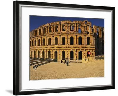 South Side of Roman Colosseum, El-Jem, Mahdia, Tunisia-Bethune Carmichael-Framed Photographic Print