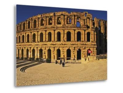 South Side of Roman Colosseum, El-Jem, Mahdia, Tunisia-Bethune Carmichael-Metal Print