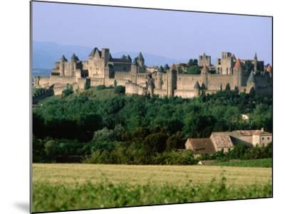 La Cite, 12th Century Castle in Distance, Carcassonne, Languedoc-Roussillon, France-John Elk III-Mounted Photographic Print