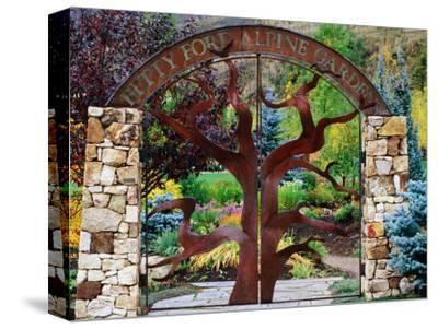 Entrance to Betty Ford Alpine Gardens, Vail, Colorado-Holger Leue-Stretched Canvas Print