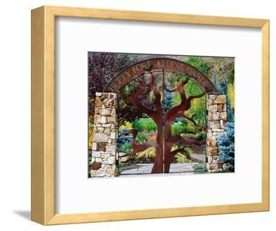 Entrance to Betty Ford Alpine Gardens, Vail, Colorado-Holger Leue-Framed Photographic Print