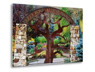 Entrance to Betty Ford Alpine Gardens, Vail, Colorado-Holger Leue-Metal Print