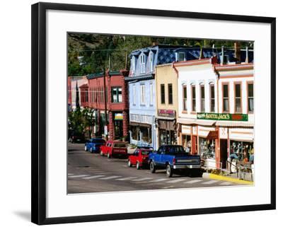 Street Scene, Manitou Springs, Colorado-Holger Leue-Framed Photographic Print