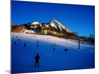Skiers at Mt. Crested Butte, Crested Butte, Colorado-Holger Leue-Mounted Photographic Print