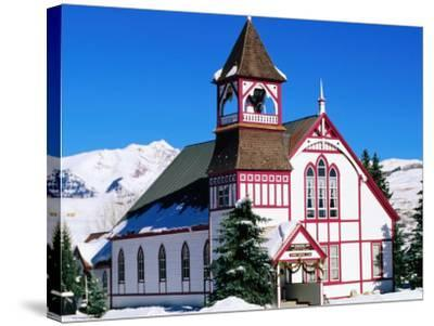 Union Congregational Church in Snow, Crested Butte, Colorado-Holger Leue-Stretched Canvas Print