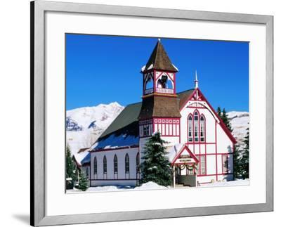 Union Congregational Church in Snow, Crested Butte, Colorado-Holger Leue-Framed Photographic Print