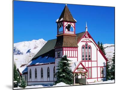 Union Congregational Church in Snow, Crested Butte, Colorado-Holger Leue-Mounted Photographic Print