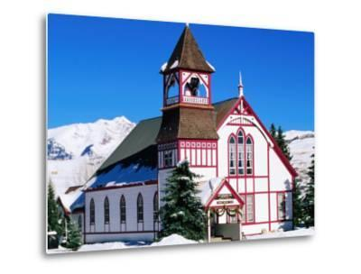 Union Congregational Church in Snow, Crested Butte, Colorado-Holger Leue-Metal Print