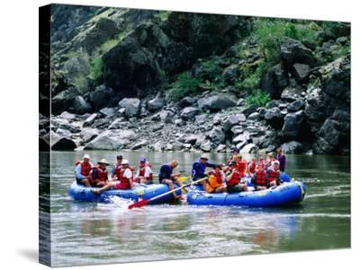 People on Rafting Trip, Snake River, Hells Canyon, Idaho-Holger Leue-Stretched Canvas Print