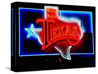 Neon Sign, Billy Bob's Texas Honky Tonk, Fort Worth, Texas-Holger Leue-Stretched Canvas Print
