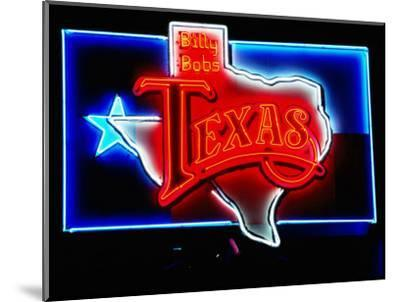Neon Sign, Billy Bob's Texas Honky Tonk, Fort Worth, Texas-Holger Leue-Mounted Photographic Print