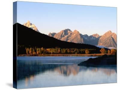 Grand Teton at Sunrise, from Oxbow Bend, Grand Teton National Park, Wyoming-Holger Leue-Stretched Canvas Print