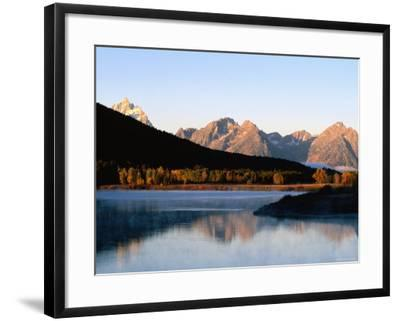 Grand Teton at Sunrise, from Oxbow Bend, Grand Teton National Park, Wyoming-Holger Leue-Framed Photographic Print