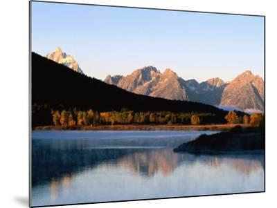 Grand Teton at Sunrise, from Oxbow Bend, Grand Teton National Park, Wyoming-Holger Leue-Mounted Photographic Print