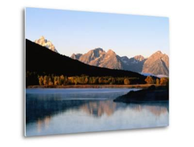 Grand Teton at Sunrise, from Oxbow Bend, Grand Teton National Park, Wyoming-Holger Leue-Metal Print