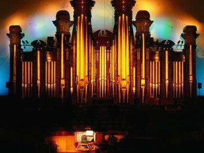 Mormon Tabernacle Organ, Temple Square, Salt Lake City-Holger Leue-Framed Photographic Print