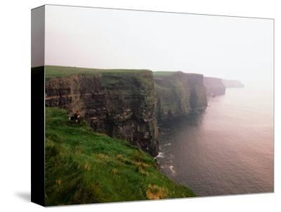 Cliffs of Moher at Sunset, Ireland-Holger Leue-Stretched Canvas Print