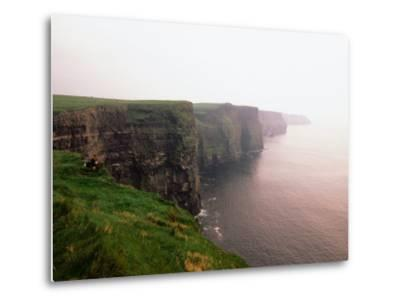 Cliffs of Moher at Sunset, Ireland-Holger Leue-Metal Print