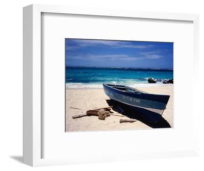 Fishing Boat, Sam Lord's Beach, St Philip-Holger Leue-Framed Photographic Print