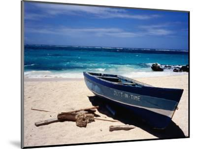 Fishing Boat, Sam Lord's Beach, St Philip-Holger Leue-Mounted Photographic Print