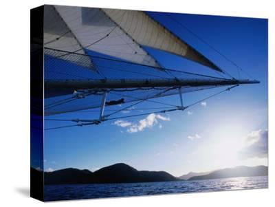 Horizon Seem from Bowsprit Net Star Clipper, Tortola-Holger Leue-Stretched Canvas Print