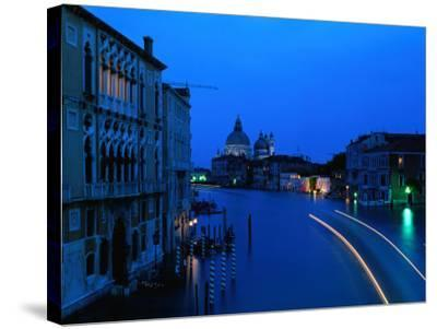 Canal from Accademia at Dusk, Venice, Italy-Christopher Groenhout-Stretched Canvas Print