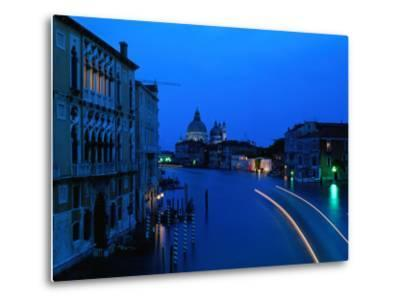 Canal from Accademia at Dusk, Venice, Italy-Christopher Groenhout-Metal Print