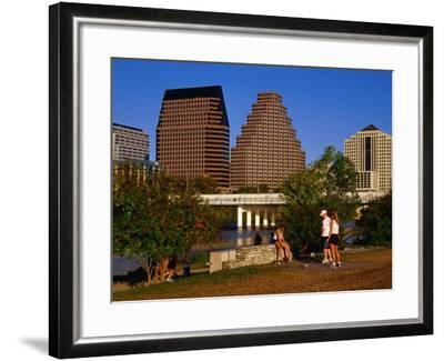Relaxing in Butler Park East in Downtown Austin, Texas-Richard Cummins-Framed Photographic Print