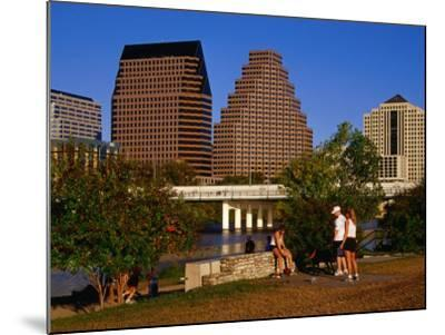Relaxing in Butler Park East in Downtown Austin, Texas-Richard Cummins-Mounted Photographic Print