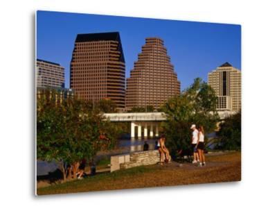 Relaxing in Butler Park East in Downtown Austin, Texas-Richard Cummins-Metal Print