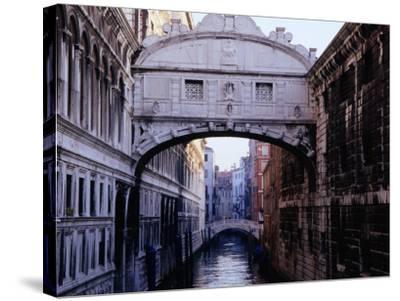Ponte Dei Sospiri or The Bridge of Sighs, Venice, Italy-Glenn Beanland-Stretched Canvas Print
