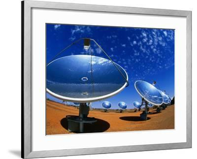 Solar Dishes, White Cliffs, New South Wales, Australia-Christopher Groenhout-Framed Photographic Print