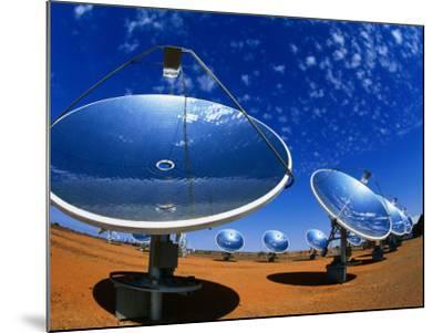 Solar Dishes, White Cliffs, New South Wales, Australia-Christopher Groenhout-Mounted Photographic Print