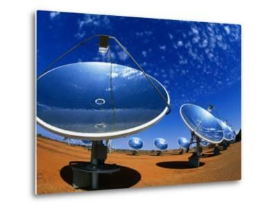 Solar Dishes, White Cliffs, New South Wales, Australia-Christopher Groenhout-Metal Print