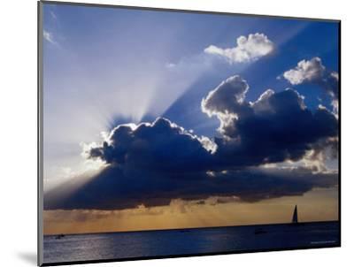 Sunset Shining through Clouds, Isla Cozumel, Quitana Roo, Mexico-Richard Cummins-Mounted Photographic Print